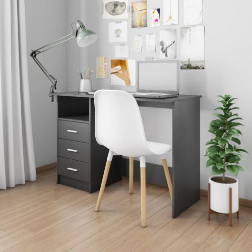 vidaXL Skrivbord med lådor svart 110x50x76 cm spånskiva