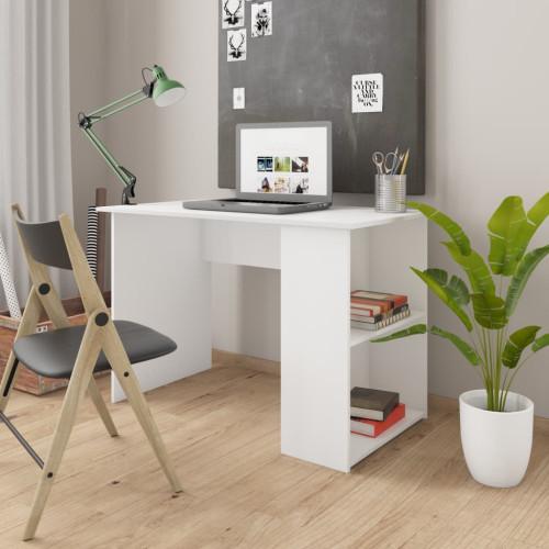 vidaXL Skrivbord vit 110x60x73 cm spånskiva