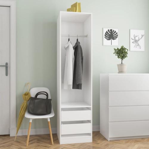 Dream Living Garderob med lådor vit 50x50x200 cm spånskiva