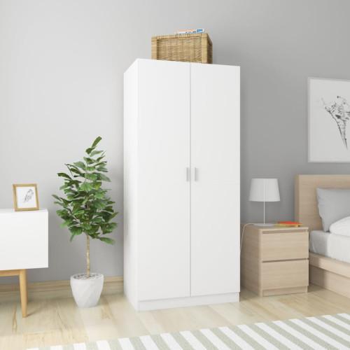 Dream Living Garderob vit 80x52x180 cm spånskiva