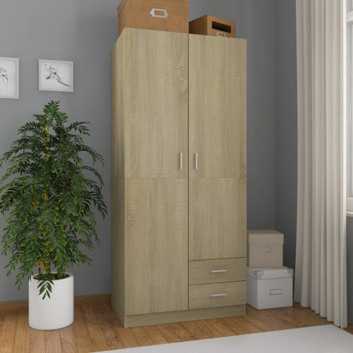 Dream Living Garderob sonoma-ek 80x52x180 cm spånskiva