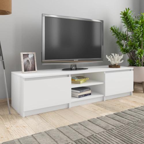 Dream Living TV-bänk vit 140x40x35,5 cm spånskiva