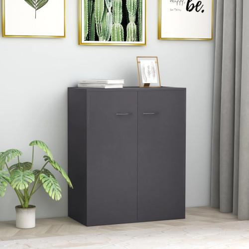 Dream Living Skänk grå 60x30x75 cm spånskiva