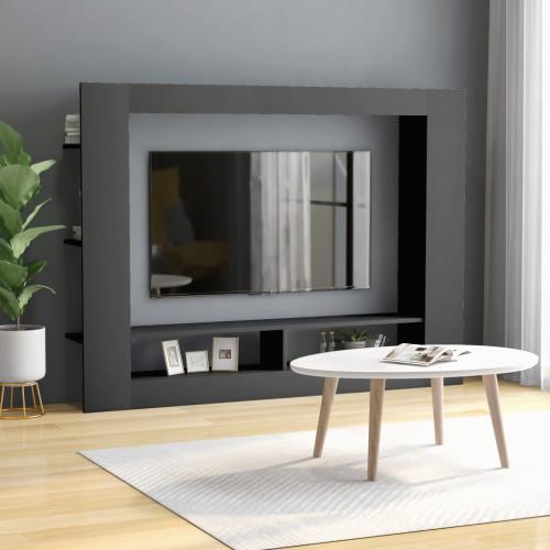 Dream Living TV-bänk grå 152x22x113 cm spånskiva