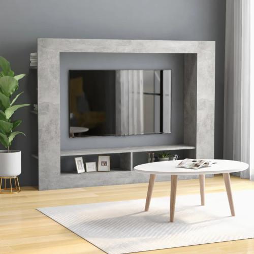 Dream Living TV-bänk betonggrå 152x22x113 cm spånskiva