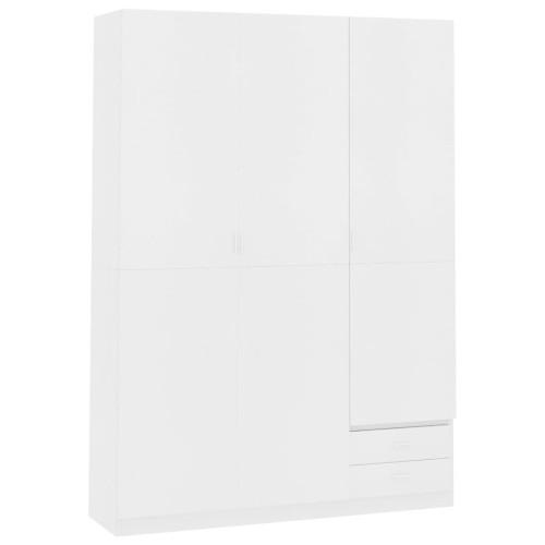 Dream Living Garderob 3 dörrar vit 120x50x180 cm spånskiva
