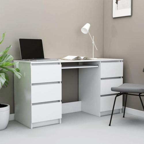 Dream Living Skrivbord vit 140x50x77 cm spånskiva