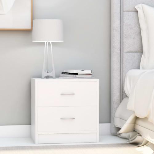 Dream Living Sängbord vit 40x30x40 cm spånskiva