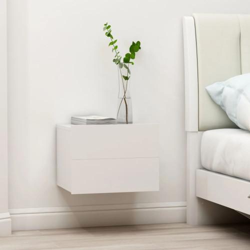 vidaXL Sängbord vit 40x30x30 cm spånskiva