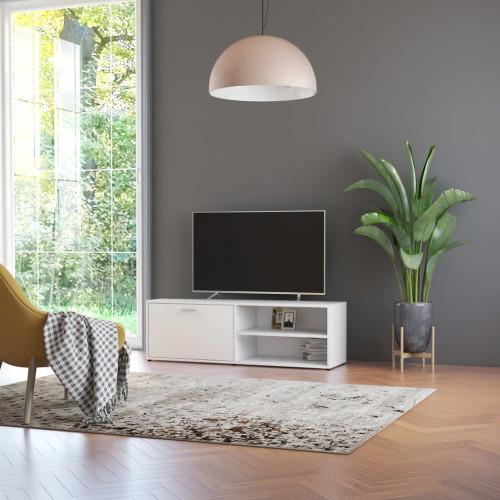 Dream Living TV-bänk vit 120x34x37 cm spånskiva