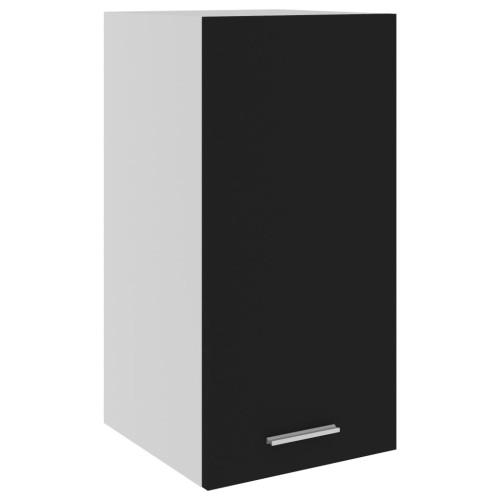 vidaXL Väggskåp svart 29,5x31x60 cm spånskiva