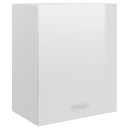 vidaXL Väggskåp vit högglans 50x31x60 cm spånskiva