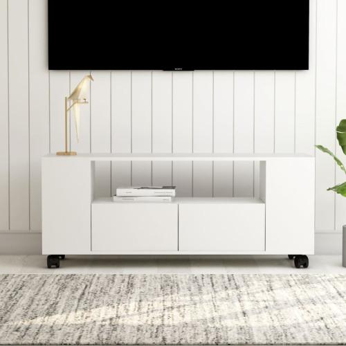 Dream Living TV-bänk vit 120x35x43 cm spånskiva