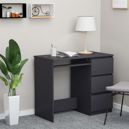 vidaXL Skrivbord grå 90x45x76 cm spånskiva