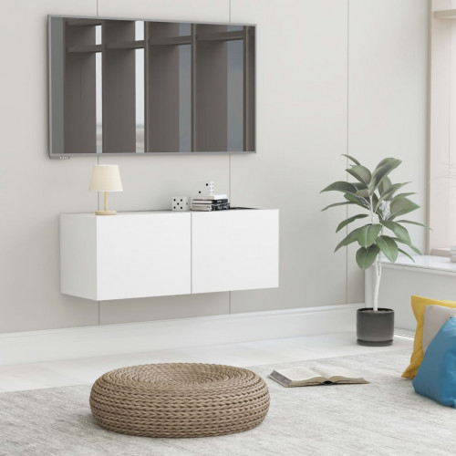 Dream Living TV-bänk vit 80x30x30 cm spånskiva