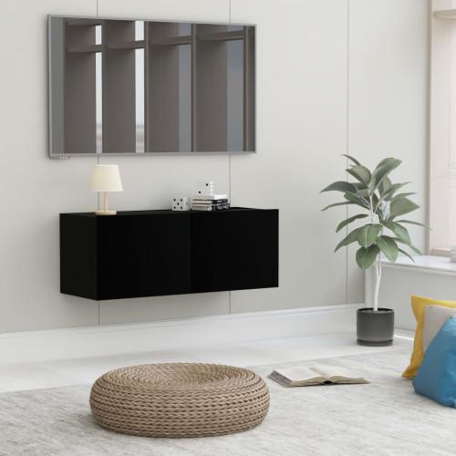 Dream Living TV-bänk svart 80x30x30 cm spånskiva