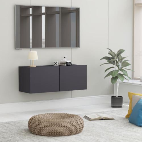 Dream Living TV-bänk grå 80x30x30 cm spånskiva