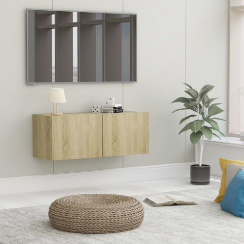 Dream Living TV-bänk sonoma-ek 80x30x30 cm spånskiva