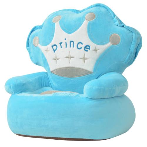 Dream Living Barnstol i plysch prins blå