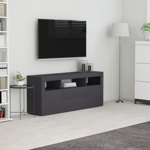 Dream Living TV-bänk grå 120x30x50 cm spånskiva