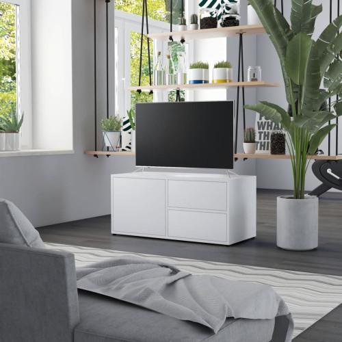 Dream Living TV-bänk vit 80x34x36 cm spånskiva