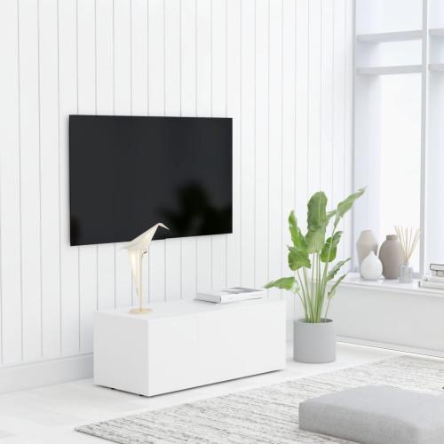 Dream Living TV-bänk vit 80x34x30 cm spånskiva