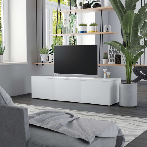 Dream Living TV-bänk vit 120x34x30 cm spånskiva