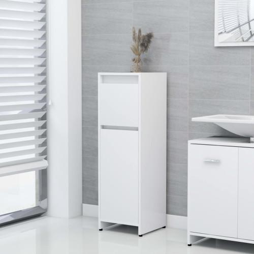 vidaXL Badrumsskåp vit 30x30x95 cm spånskiva