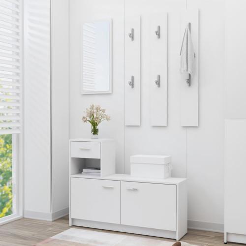 Dream Living Hallmöbler vit 100x25x76,5 cm spånskiva