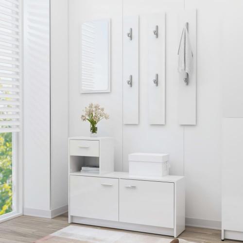 Dream Living Hallmöbler vit högglans 100x25x76,5 cm spånskiva