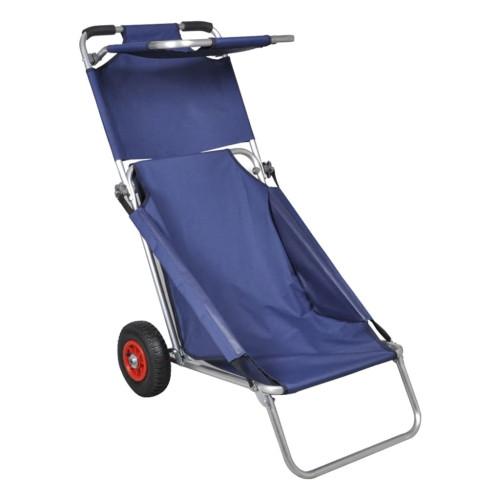 vidaXL Strandvagn med hjul hopfällbar blå