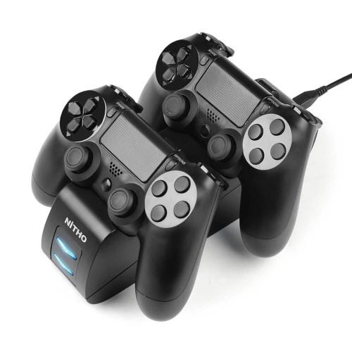 NITHO Laddare för Handkontroll PS4 Dual