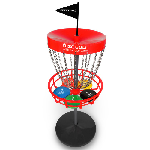 SportMe Discgolf set med korg