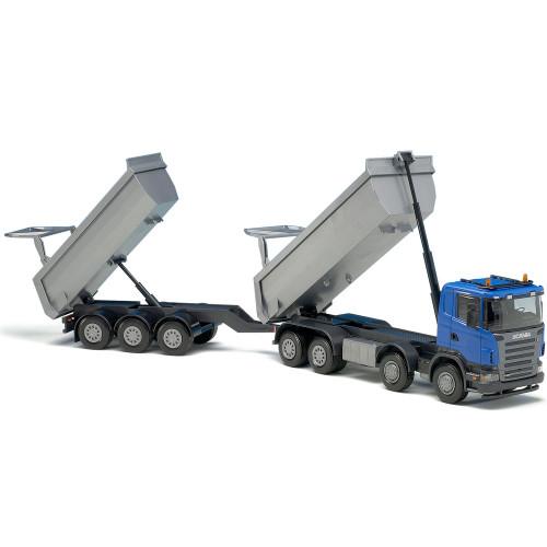 EMEK Scania Tipplastbil & Släp Blå