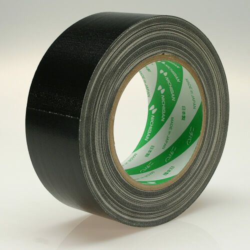 NICHIBAN Gaffatejp Svart 50mm x 25m, Glossy