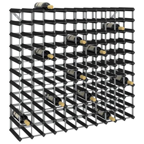 Dream Living Vinställ för 120 flaskor svart massiv furu