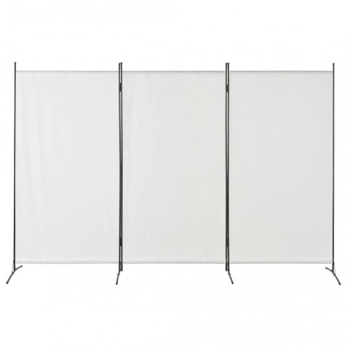 Dream Living Rumsavdelare 3 paneler vit 260x180 cm