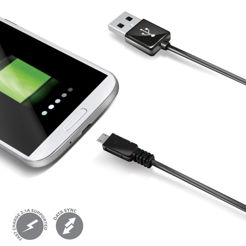 Celly USB-kabel MicroUSB 1m Sv