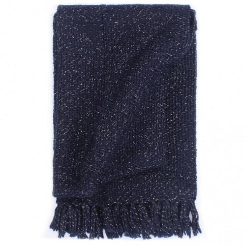 vidaXL Filt lurex 160x210 cm marinblå
