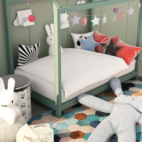 Dream Living Bäddset sommar 2-delat för barn vit 100x135 cm/40x60 cm