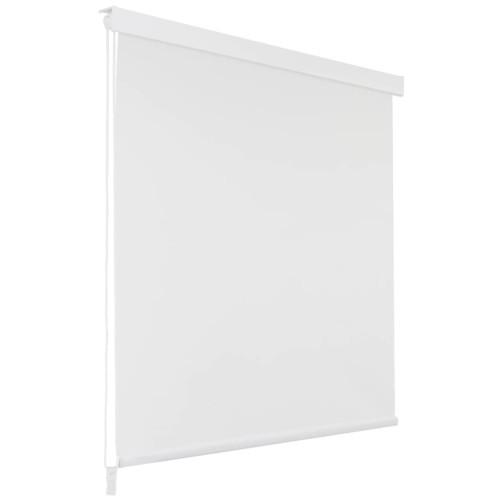 vidaXL Rullgardin för dusch 100x240 cm vit