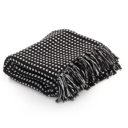 vidaXL Filt bomull fyrkanter 125x150 cm svart