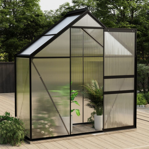 vidaXL Växthus antracit aluminium 1,33 m²