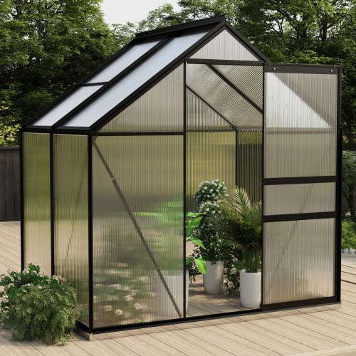 vidaXL Växthus antracit aluminium 2,47 m²