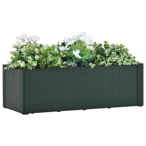vidaXL Upphöjd odlingslåda med självbevattning grön 100x43x33 cm