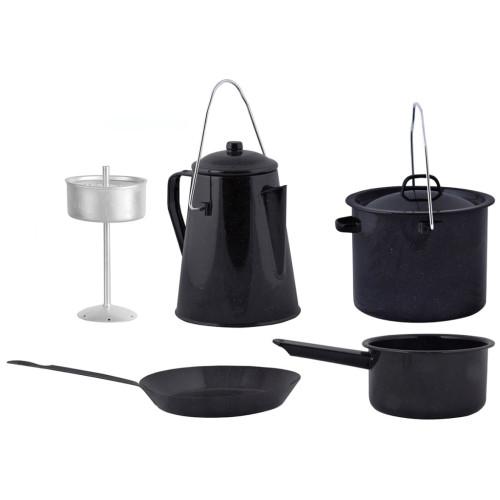 Esschert Design Esschert Design Matlagningsset för utomhusbruk 4 delar svart FF215