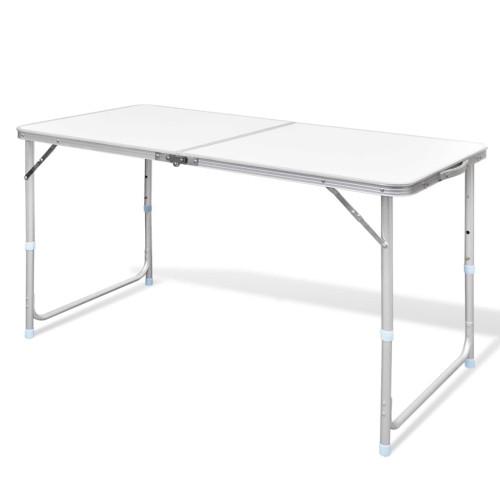 vidaXL Campingbord med höj- och sänkbar aluminium (hopfällbar) 120 x 60 cm