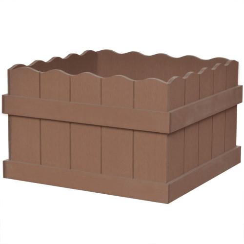vidaXL WPC Odlingslåda upphöjd 40x40x25 cm brun