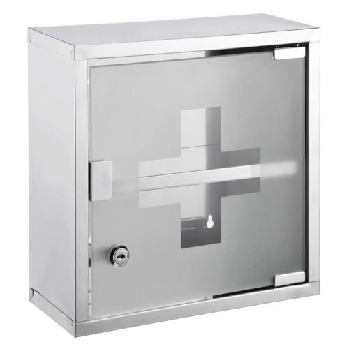 HI HI Medicinskåp 30x12x30 cm rostfritt stål