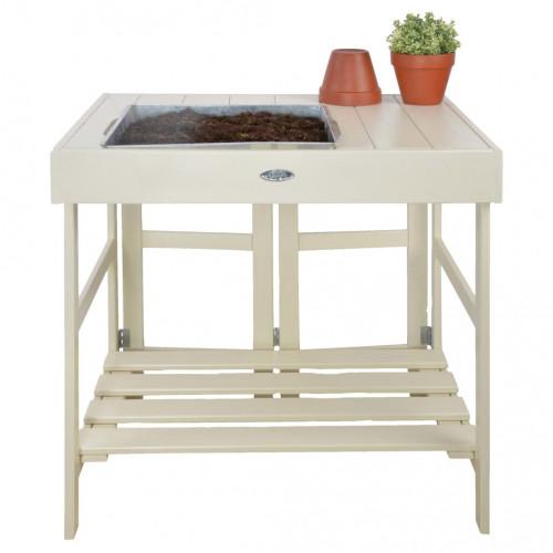 Esschert Design Esschert Design Planteringsbord vit